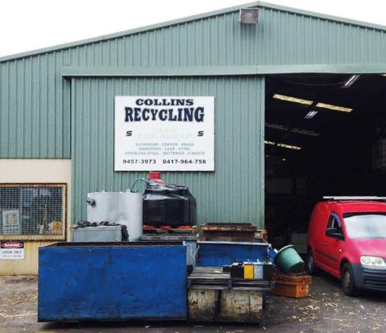 Collins Recycling scrapyard.